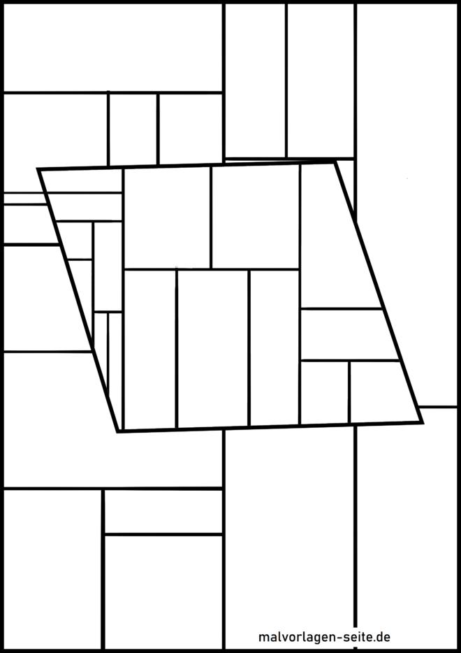 পৃষ্ঠার জ্যামিতিক আকারগুলি রঙ করা