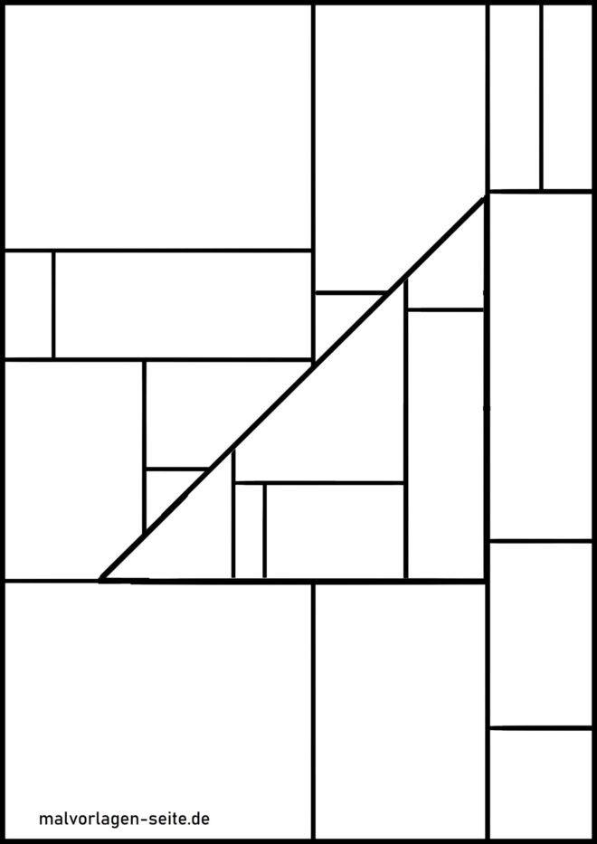 Malvorlagen geometrische Formen