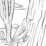 Página para colorir cacto