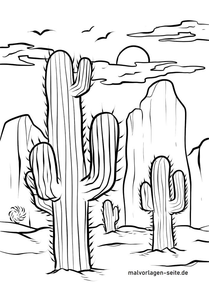 Kaktuslar sahifasini bo'yash