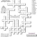 Crossword capitals of Europe
