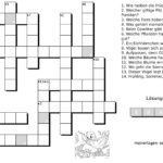Children's crossword nature