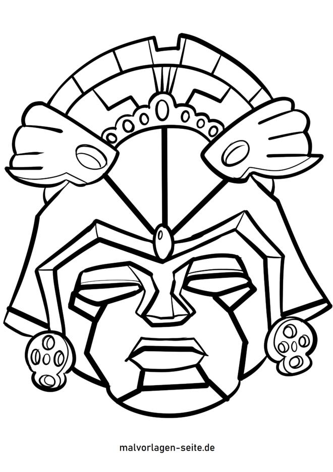 د رنګ کولو پا Azه Aztec ماسک