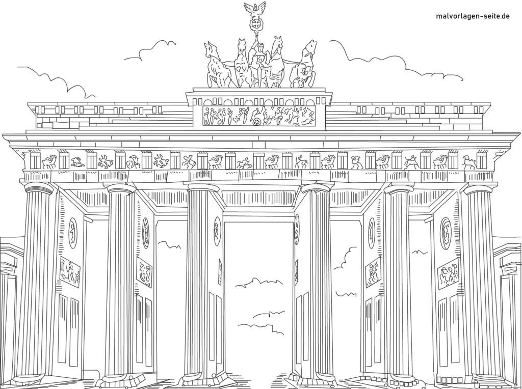 Malvorlage / Ausmalbild Brandenburger Tor