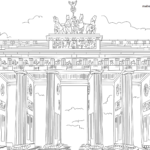 Coloring page Brandenburg Gate