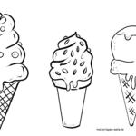 Malvorlage Eiswaffeln | Eis essen