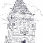 Coloring page Osthofentor | Tourist Attractions