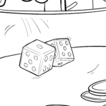 Coloring page cubes