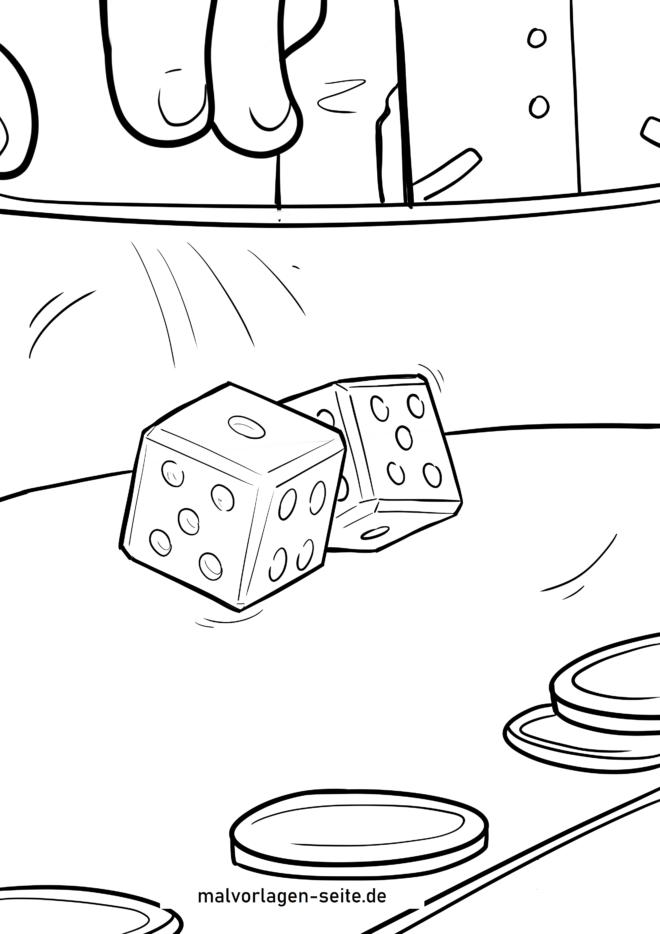 Página para colorir cubos