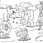 Coloring page Safari | animals