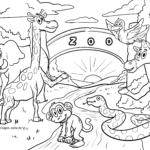 Kolora paĝo zoo | bestoj
