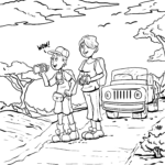 Coloring page safari | vacation