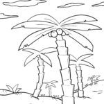 Coloring page palm tree Trees