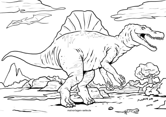 Väritys sivu dinosaurukset Spinosaurus