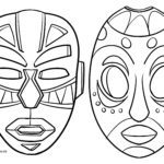 Coloring page African mask Cultures