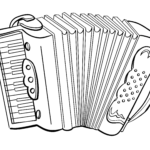 Coloring page accordion | Musical instruments