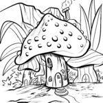 Värityskuva sieni | Sienet