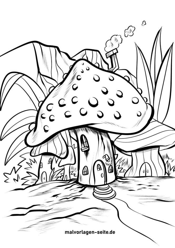 Väritys sivu sieni