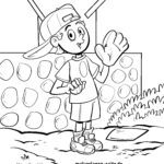 Coloring page throw baseball | leisure