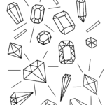 Coloriage diamants diamants | argent