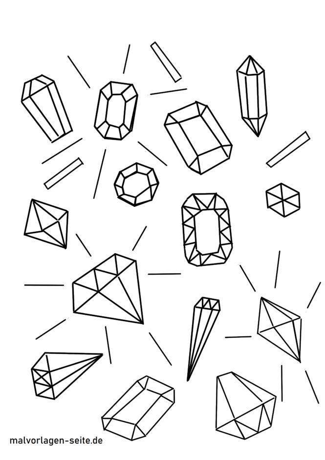 Coloriage gemmes et diamants