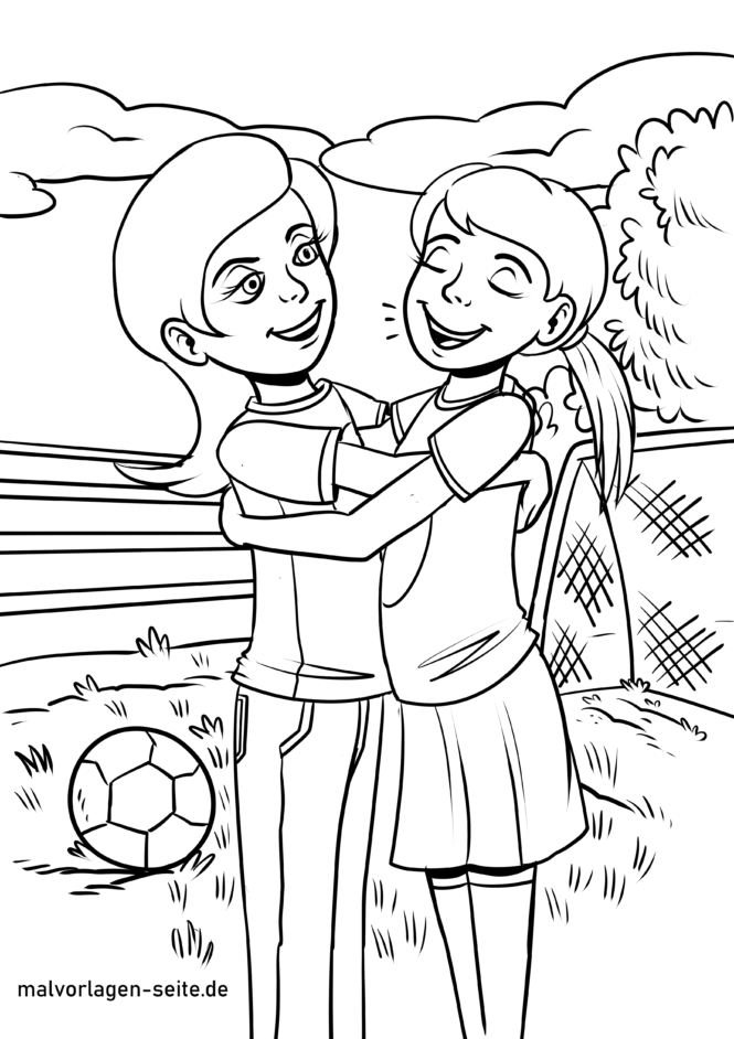 Coloring Page Friendship - Free Coloring Pages