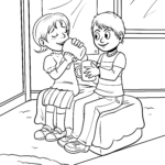 Coloring page friendship