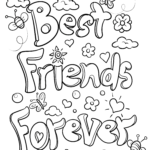 Coloring page friendship best friends forever