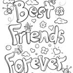 Malvorlage Freundschaft Best Friends Forever