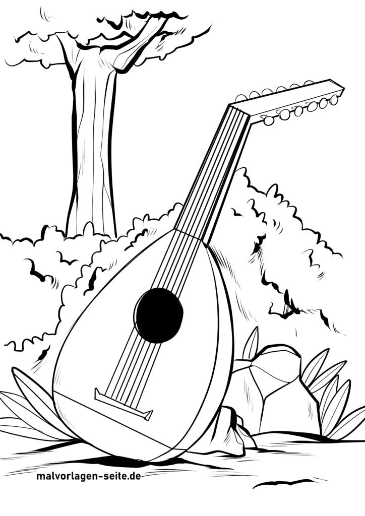 ausmalbilder musikinstrumente  musik  kostenlose