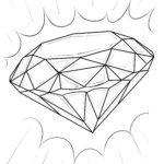 Väritys sivu timantti