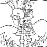 Coloring page bagpipe | Musical instruments