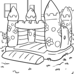 Coloring page bouncy castle | leisure
