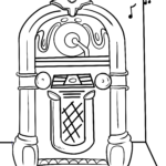 Malvorlage Jukebox