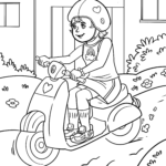 Coloring page scooter