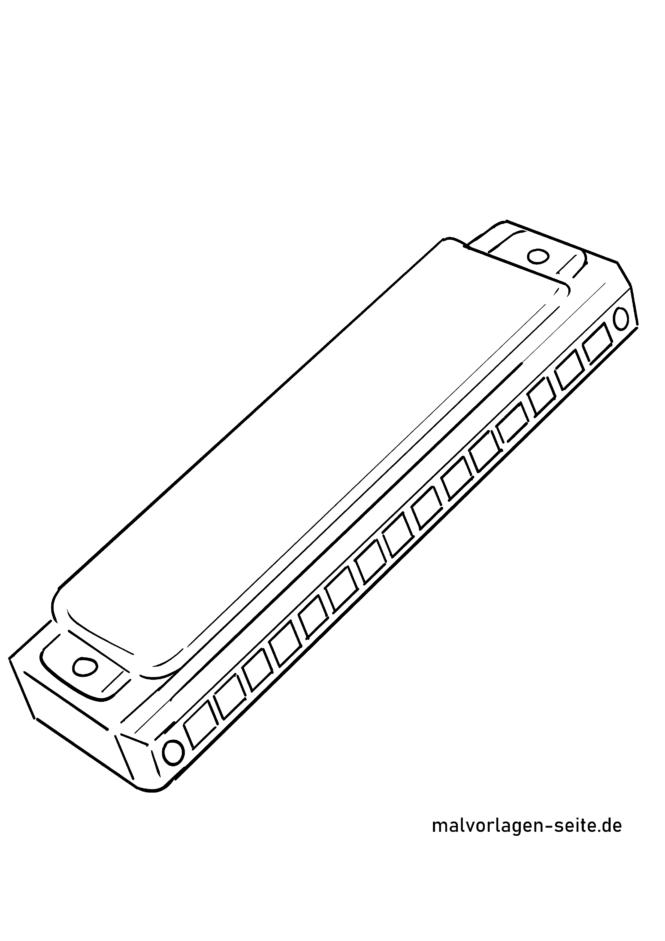 malvorlage mundharmonika  musikinstrumente  kostenlose