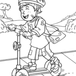 Coloriage scooter | Loisirs de scooter