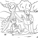 Coloring page boy scout