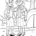 Coloring page girl scouts