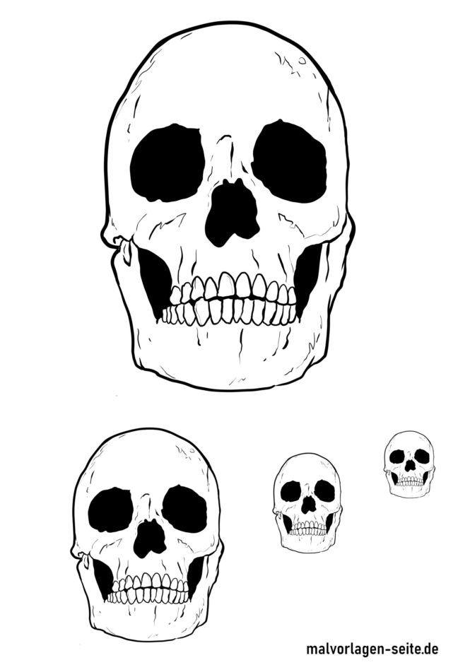 Coloring page skulls