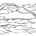 Coloring page albatross
