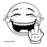 Emojis zum Ausmalen - Mittelfinger
