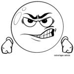 Emojis zum Ausmalen - Wütend