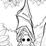 Malvorlage Fledermaus