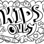 Graffiti-skabelon kun til børn