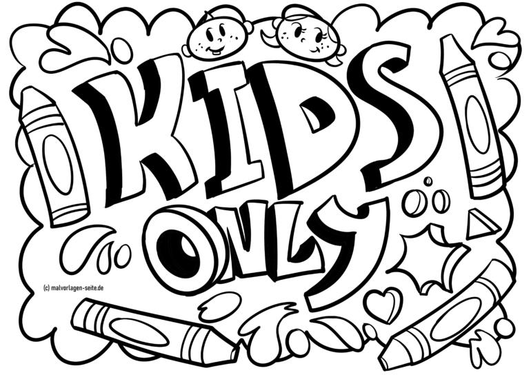 Graffiti Vorlage Kids only