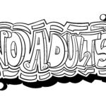Graffiti-skabelon Ingen voksne