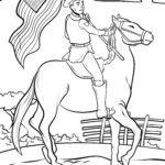 Bojanje stranice konjica | Divlji zapad