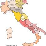 Map of Italy with regions