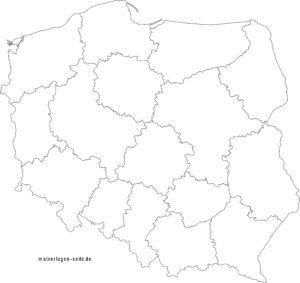 Political map of Poland to design yourself